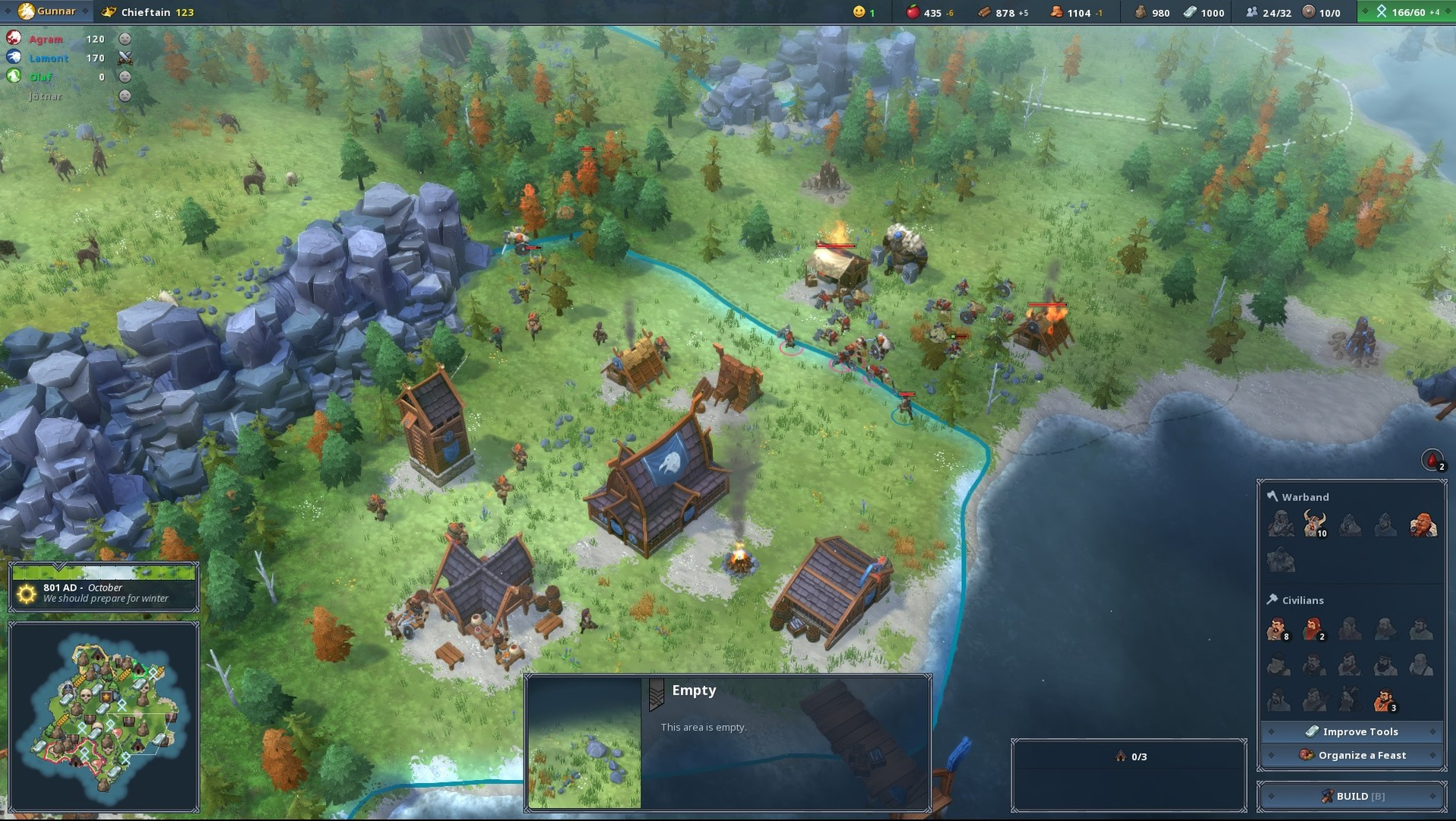 Viking themed Strategy Game Northgard Leaves Early Access