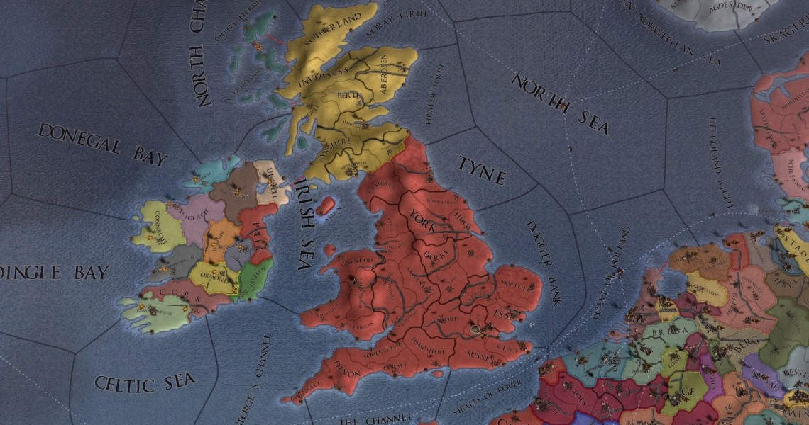 England and Low Countries new provinces