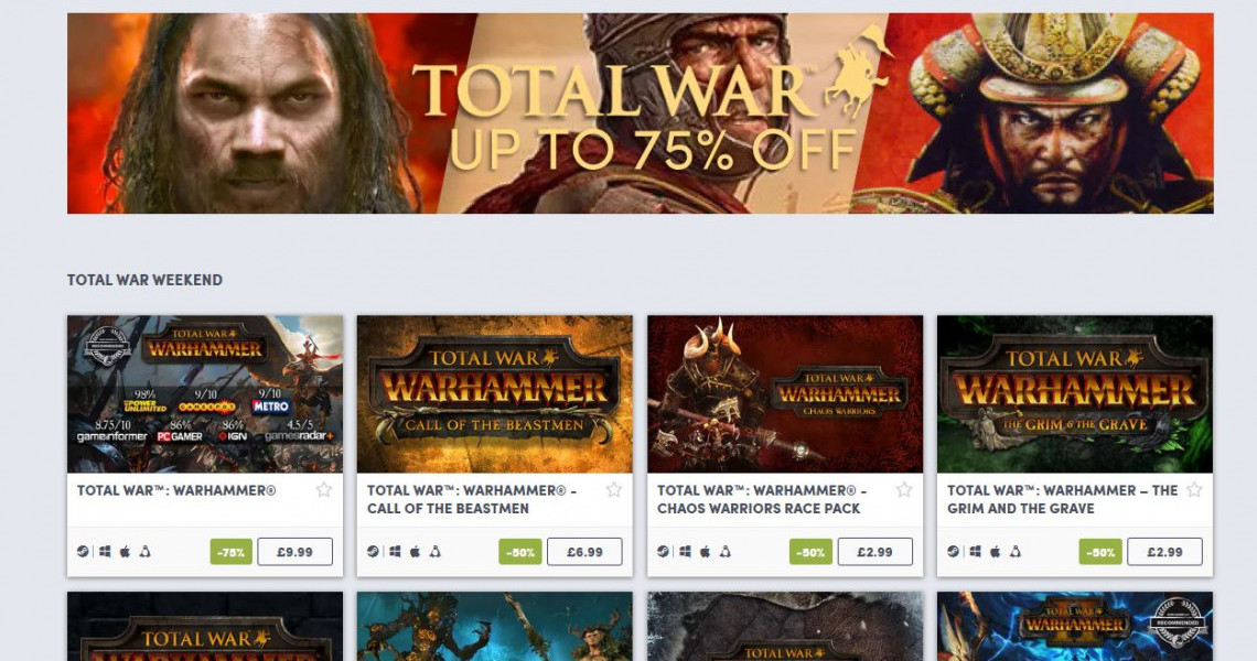 Total war humble sale