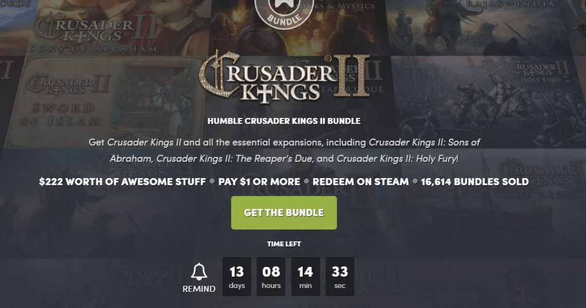 Humble Bundle Free Games 2020.You Have 27 Hours To Jump On The Best Crusaders Kings 2 Deal