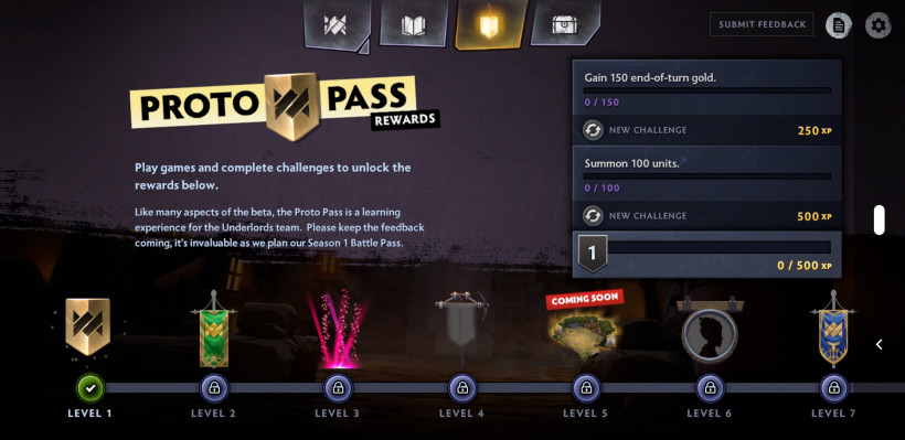 DOTA Underlords gets a WiP 'Battle Pass' as datamine revels